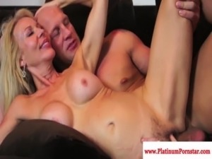 Nina Hartley and Erica Lauren taste cum free