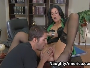 Principal India Summer enjoys in getting her office pretty busy