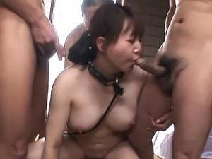 An older man, Waka Kano\'s father-in-law treats the hot milf