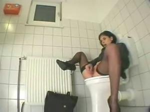 My cousin visiting us masturbates in toilet. Hidden cam free