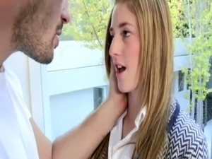 Preppy young amateur giving head free