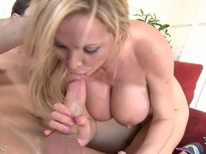 Nikki Benz gets her wet pussy stuffed and a facial for dessert!