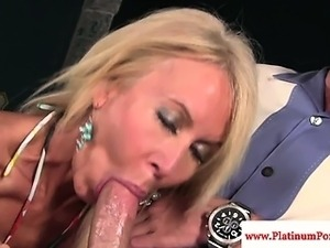 Erica Lauren gets mouthful of cum