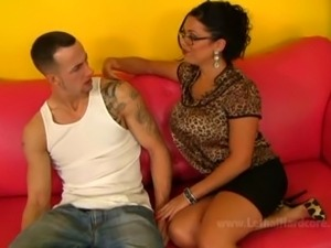 busty milf sienna west getting fucked hard by her sons friend and licking his...