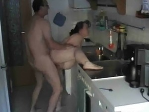 Shaved pregnant cheating wife fucked in the kitchen free