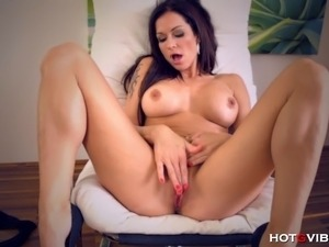 The incredibly busty, and fuckable European temptress, Stacy Silver, relaxes...
