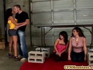 Femdom Sienna West in cool foursome
