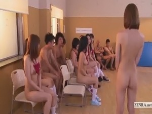 Subtitled uncensored Japanese nudist school club orgy free