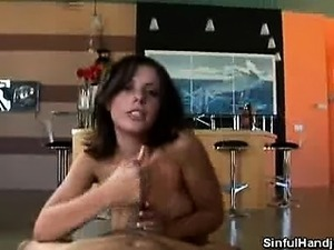 Penny Flame Rubbing a Thick Cock