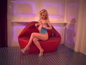 The flexible, teenage temptress, Jakelin Teen, pleasures her tight pussy with...