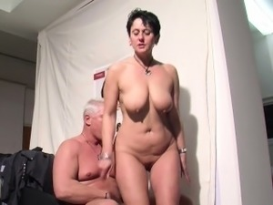 German Mother get fucked at work for more Money