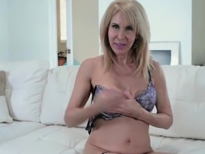 Erica Lauren Hot MILF in Blue Dress Solo