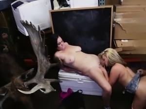 Carli banks blowjob first time Lesbians Pawn Their Asses!