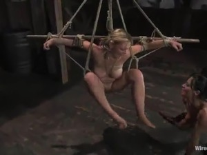 Hot Sara Scott has tied And Toyed By Sandra Romain