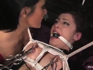 Submissive female has Fingered And Dominated By the doll