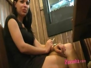 Masturbation at the public toilet