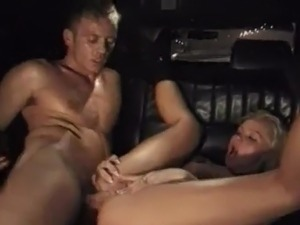 Rocco screws Silvia Saint inside A Car And Makes Her dicklick His meat stick...