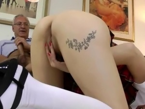 Hottest Rookie pipeing old dude jock