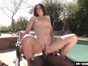 BrokenTeens  Faith Leons Pussy Ravaged by a Big Black Cock