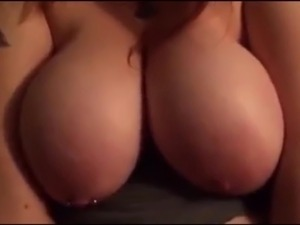 Big tits ride hard