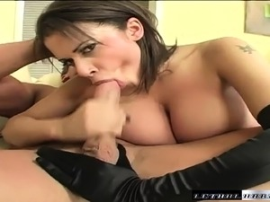 Curvaceous nympho in black lingerie Alexis Silver takes a hard fucking