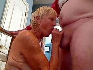 Grandma sucks cock to grandpa