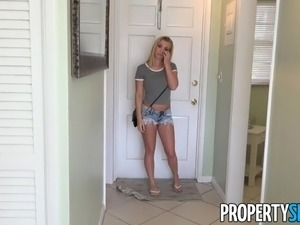 PropertySex - Hot blonde cheats on BF with real estate agent