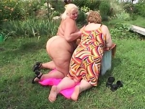 Chunky lesbian babe gets into a hot fuck fest with her girlfriend