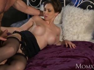 MOM Office woman in stockings wants rock hard cock