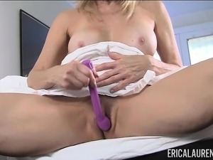 Erica Lauren Masturbates With Purple Vibrator