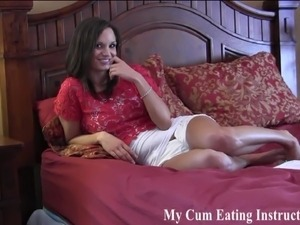 Eat your cum until you are completely full CEI