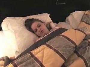 Slutty brunette girlfriend tastes delicious before going to sleep