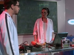 MILF Doctor With Big Tits Checking Soldiers Big Cock