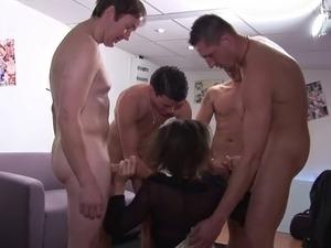 French Slut A10 mature gangbang DP
