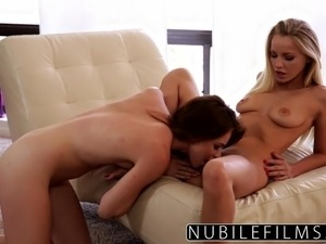 Sexy Blonde Lesbian Fuck With Tiny Babysitter