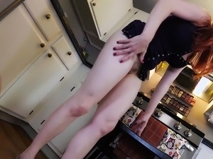 Mom Fucks the Paper Boy MILF REDHEAD CREAMPIE LADY FYRE POV