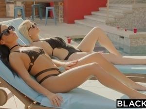 BLACKED Megan Rain's surprise interracial threesome