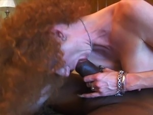 Wild curly MILF love to play and take a big black cock in her pussy