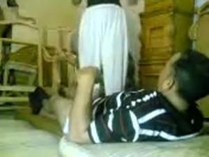 Slutty Arab sexceraty rides my dick upskirt before I fuck her hard missionary...