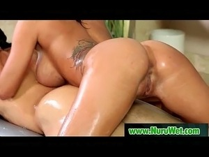 Sexy masseuse gives nuru massage  09