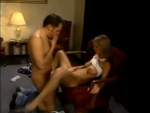 Brooke Banner sucks a large cock and begs to be fucked in her wet pussy