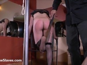 Bastinado feet whipping and tied spanking of latina amateur slavegirl Sarah...