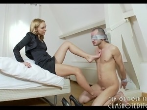 Shoe And Feet Fetish With Young Dominating Teen