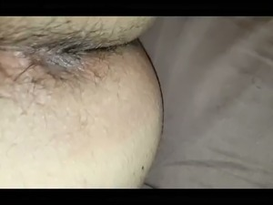 My lewd Arab wife is not squeamish about tongue fucking my ass before sex