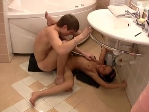 Sex in bathroom in many positions