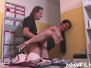 Busty German Anal Secretary