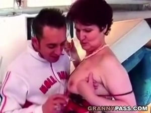 Hairy Granny Likes Young Cock And Hard Fucking