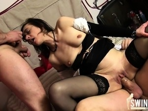 Ugly old threesome fuck