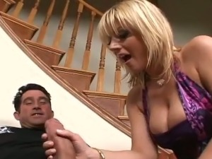 Curvy Blonde Velicity Von Having Fun Deepthroating and Fucking a Big Cock