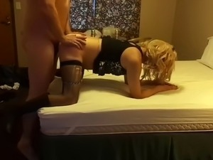 lexx crossdresser gets fucked in bed